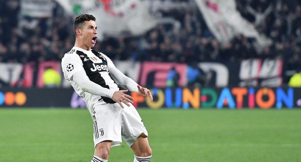 Cristiano Ronaldo marcó tres goles en la victoria que le dio la clasifiicación a Juventus. (EFE)