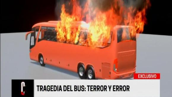 Peritos de criminalística de la Dirincri, según el reportaje periodístico, determinaron que el bus había sido modificado a lo largo de los años. (Foto: Cuarto Poder)