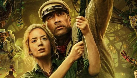 Dwayne Johnson y Emily Blunt protagonizan esta nueva película de aventura ambientada a inicios del siglo XX sobre un grupo de exploradores en busca del mítico árbol de la vida.  (Foto: Disney)