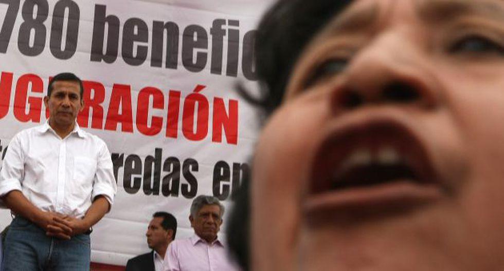 EN LAS ALTURAS. Desde Ate, Humala saludó postura de Yanacocha. (Martín Pauca)
