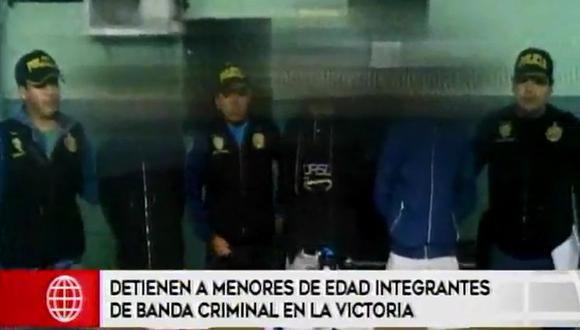 Los detenidos eran conocidos como 'Francis' (17), 'Carlonchito' (16) y 'Moco' (16). Este último tenía una réplica de arma.
