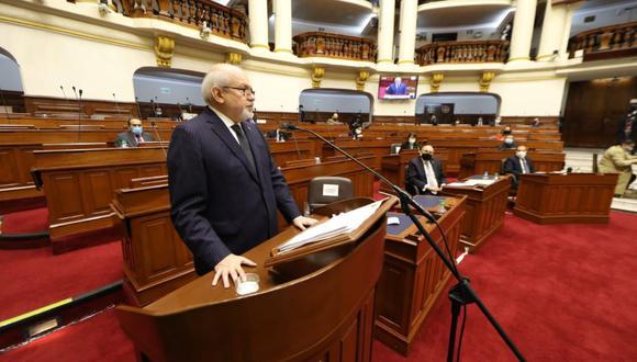 El premier Pedro Cateriano presenta el plan de gobierno ante el Congreso (Congreso).