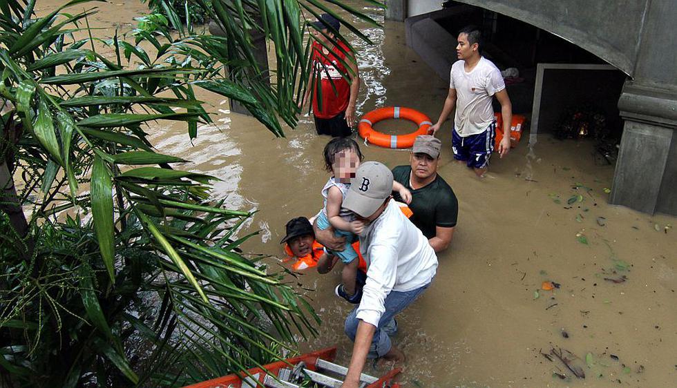 Al menos 38 personas murieron en Filipinas por las fuertes inundaciones. (AFP)