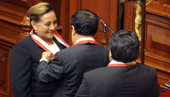Rosa Núñez juró ayer. (Congreso)