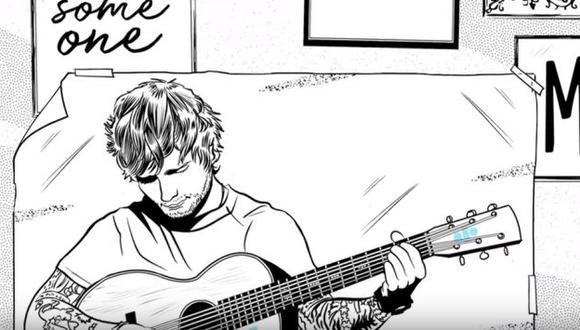 Ed Sheeran lanzó su nuevo sencillo con un tierno video animado con la letra (YouTube)