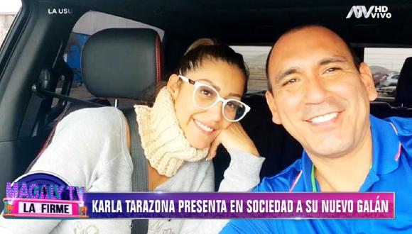 Karla Tarazona anuncia matrimonio con su novio Raúl Fernández. (Foto: Captura Magaly TV: La Firme)