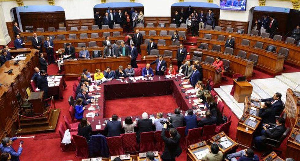 El grupo sesiona desde las 5 p.m. bajo la presidencia de Pedro Olaechea. (Foto: Congreso)