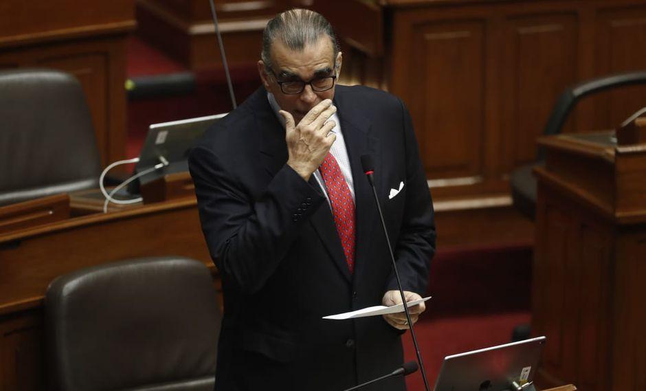 El legislador no agrupado Pedro Olaechea también fue parte del debate. (Foto: César Campos / GEC)