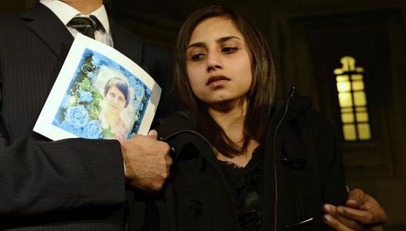 DOLOR. La hija de la enfermera india que murió el viernes pasado. (Reuters)
