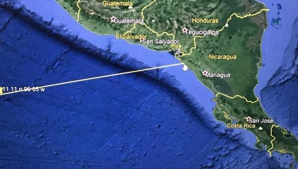 Un avión del Departamento de Defensa de Estados Unidos detectó una ola gigante el la costa del Pacífico, en Centroamérica. (Foto: Twitter @USEmbassySV)