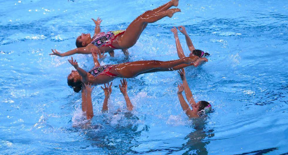 Así fue la espectacular rutina peruana de natación artística. (Foto: Renzo Salazar/GEC)
