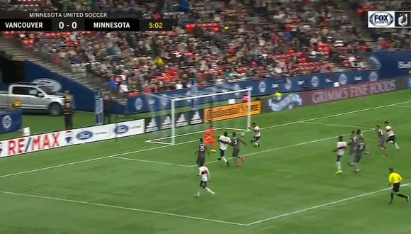 Yordy Reyna y su asistencia para el primer gol de la temporada en la MLS del Vancouver Whitecaps. (Video: Fox Sports)