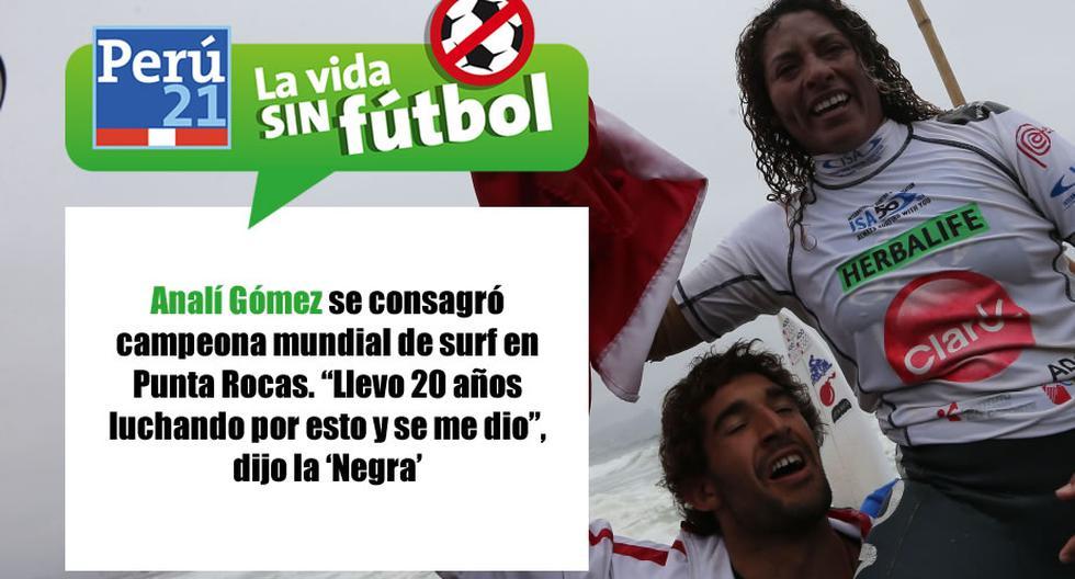 Analí Gómez es la nueva reina del surf. (Perú21)