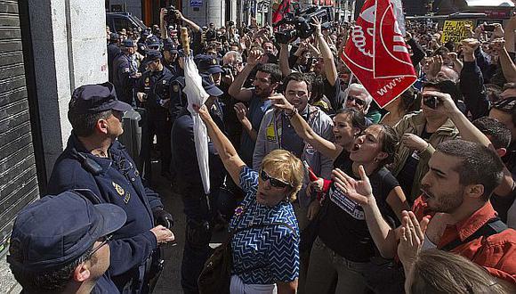Las protestas se extendieron casi por toda la ciudad de Madrid. (Reuters)