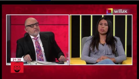 Beto Ortiz y el incidente con congresista electa Zaira Arias. (Foto: Captura Willax TV)