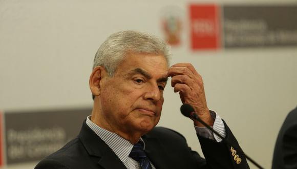 """Villanueva explicó que realiza esta gestión porque es """"el primer interesado en desmentir las falsas imputaciones hechas por el señor Jorge Barata"""".(Foto: GEC)"""