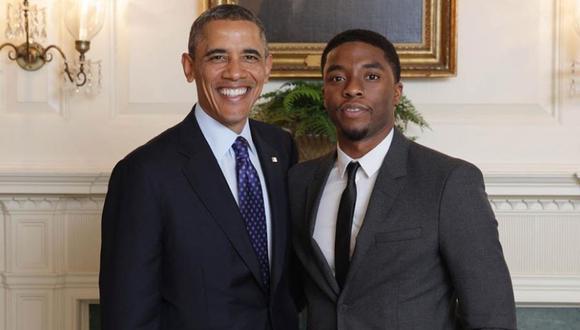 Chadwick Boseman y Barack Obama en la Casa Blanca. (Instagram: barackobama).