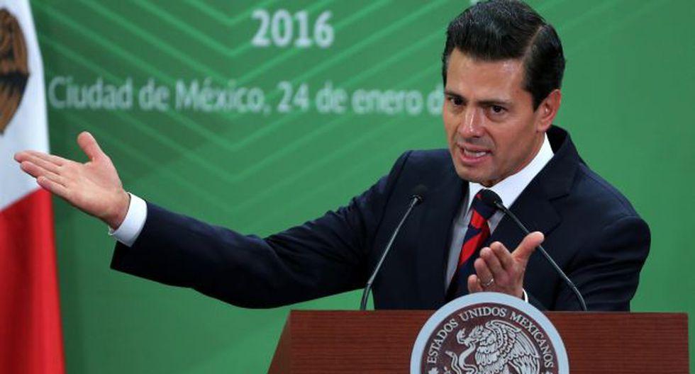 Enrique Peña Nieto rechazó tajantemente contrucción de muro firmado por Donald Trump. (EFE)