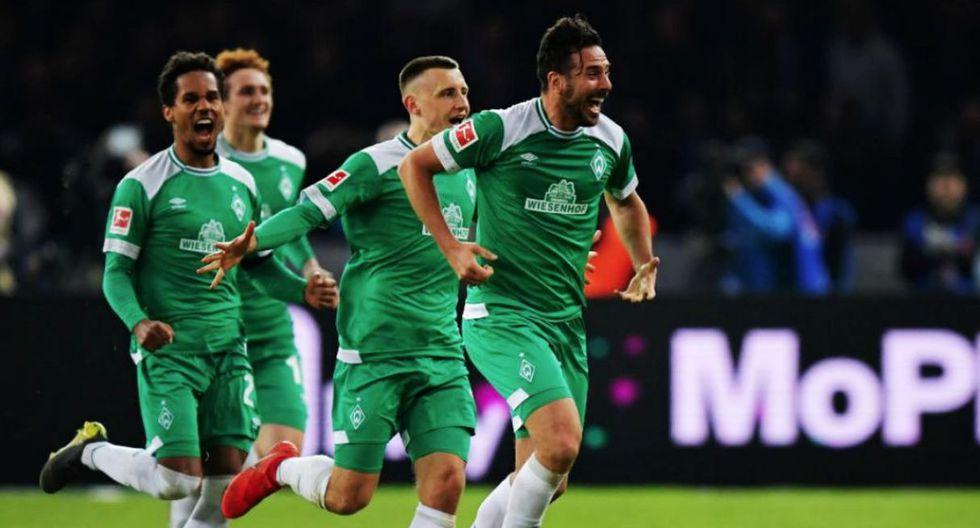El 'Bombardero de los Andes' sumó 195 anotaciones en la Bundesliga y amplió su ventaja sobre Robert Lewandowski (193) como máximo artillero extranjero del certamen. (Foto: Twitter Werder Bremen)