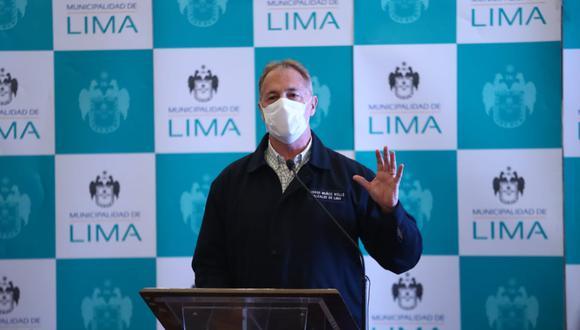 Muñoz, en la conferencia de prensa, sostuvo que continuará garantizando el servicio del Metropolitano, alimentadores y corredores a los usuarios durante esta emergencia sanitaria. Foto: Alessandro Currarino / GEC