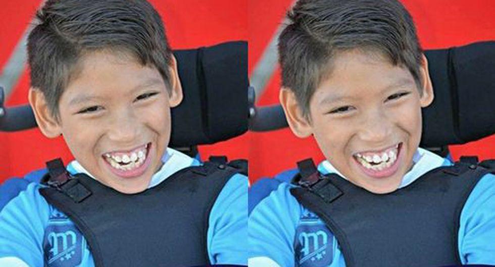 Mario Treviño, el menor que llamó la atención en redes sociales por jugar aún en silla de ruedas (Foto: Leones Juárez)