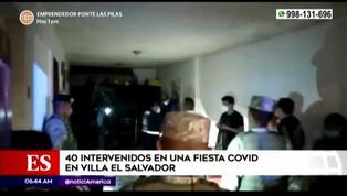 Villa El Salvador: 40 personas fueron intervenidas en una fiesta clandestina