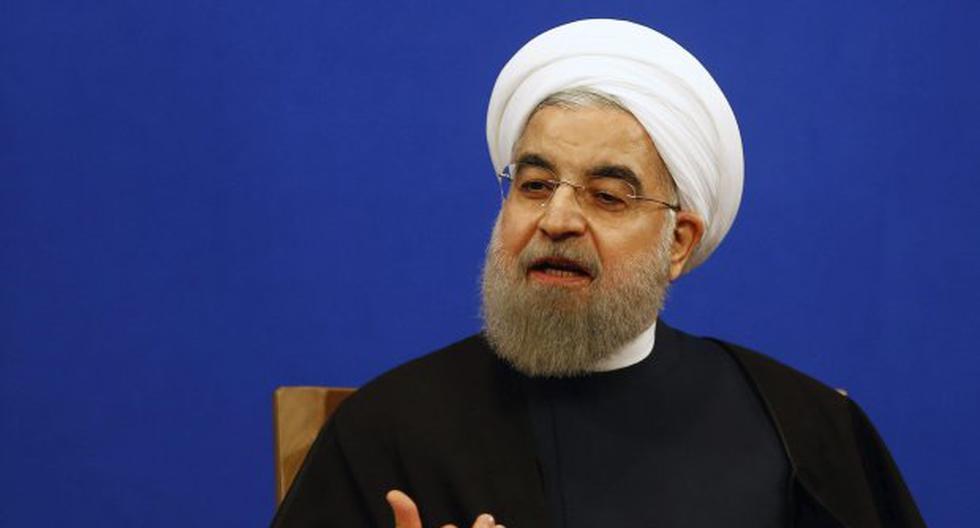 """El presidente de Irán, Hasan Rohaní, dijo asimismo que el diálogo con el mundo es complicado pero """"posible"""", en medio del aumento de la tensión con Estados Unidos y Europa. (Foto: EFE)"""