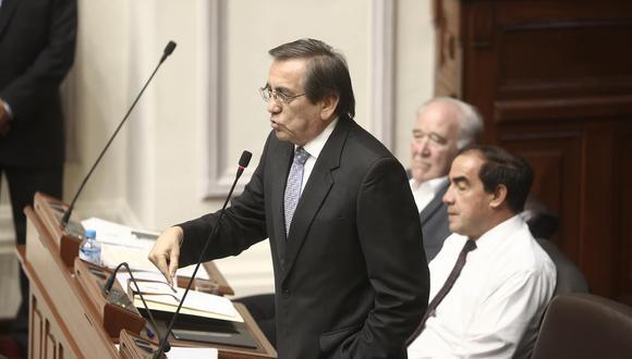 Jorge del Castillo sostuvo que con decisión política el gobierno podrá lograr el desarrollo que propone. (César Campos)