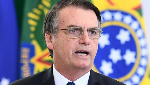 """""""A pesar de que no hay relación con mi equipo, el episodio de ayer, ocurrido en España, es inaceptable"""", dijo Jair Bolsonaro en Twitter. (Foto: AFP)"""