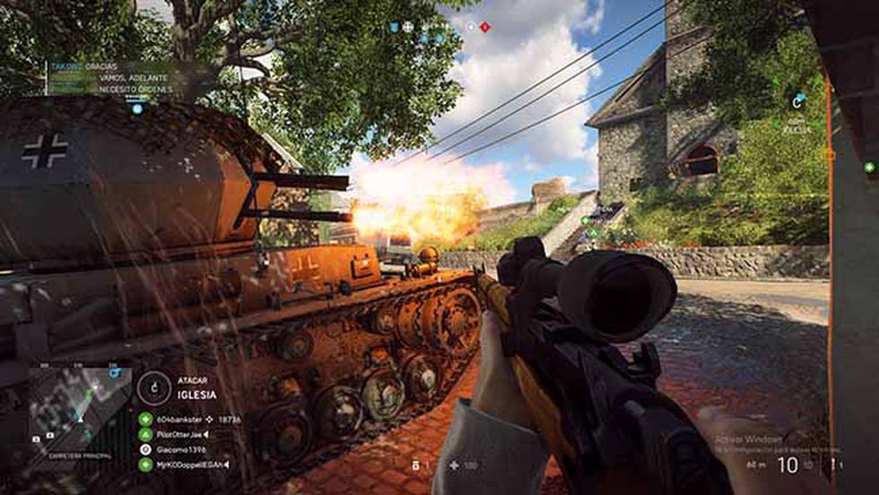 El modo para un jugador de Battlefield V consta de cuatro historias, las cuales se enfocan en diversos puntos de vista de lo que fue la Segunda Guerra Mundial.