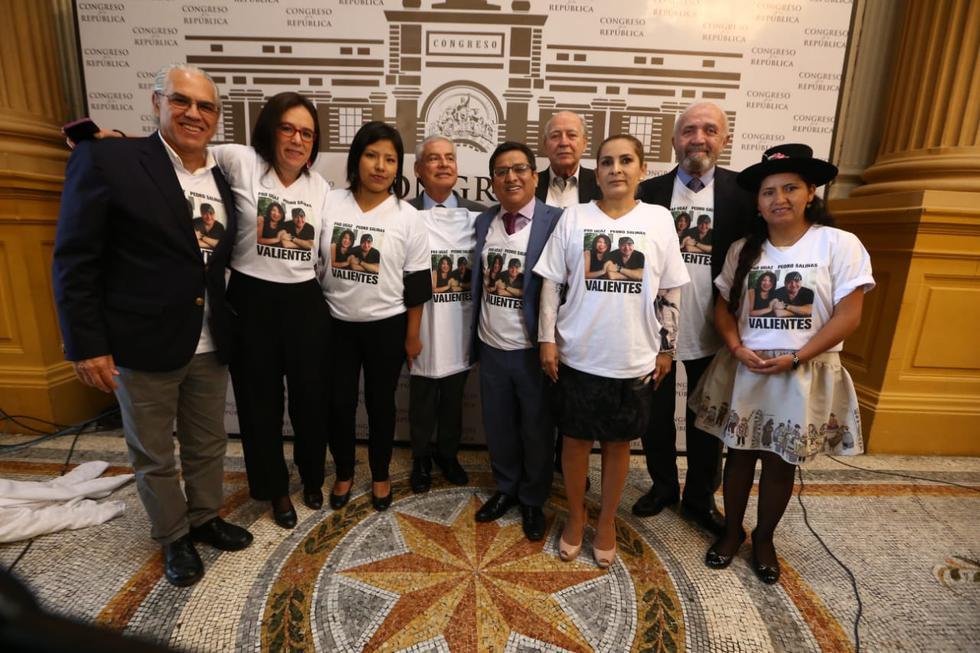 Congresistas dieron muestras de respaldo a Pedro Salinas (Foto: GEC/ Alessandro Currarino)