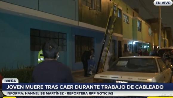 Los paramédicos llegaron a los pocos minutos, pero solo certificaron la muerte de Manuel David Cáceres Carrasquel. (RPP TV)