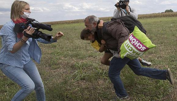 Petra Laszlo: Reportera húngara evalúa denunciar a inmigrante que golpeó. (USI)