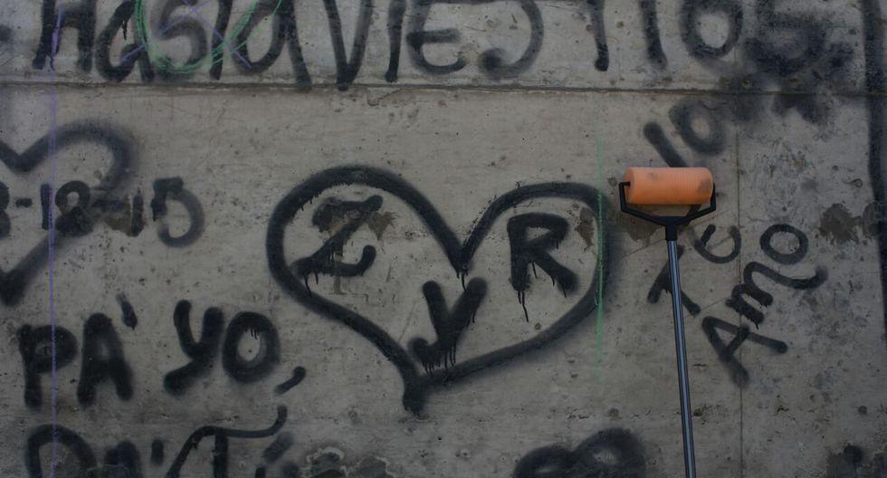 'Muro de la vergüenza' se convierte en un lienzo que clama por respeto. (Luis Centurión/Perú21)