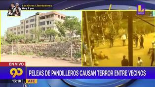 Ate: Peleas de pandilleros atemorizan a los vecinos de la Asociación San José