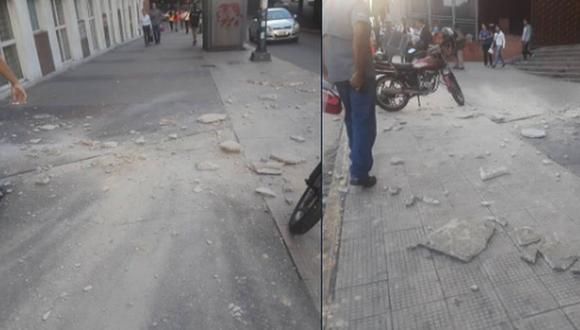 El Centro Comercial Galerías Avila también se vio afectado por el fuerte movimiento telúrico de magnitud 7.3.  (RCTV)