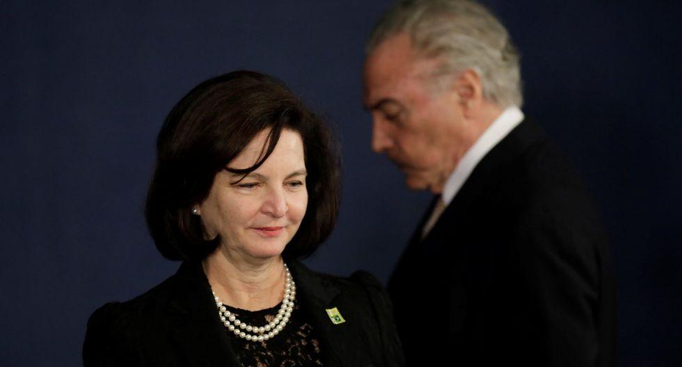 Raquel Dodge, nueva fiscal general de Brasil, evitó pronunciarse sobre denuncia presentada contra el presidente Michel Temer (Reuters).