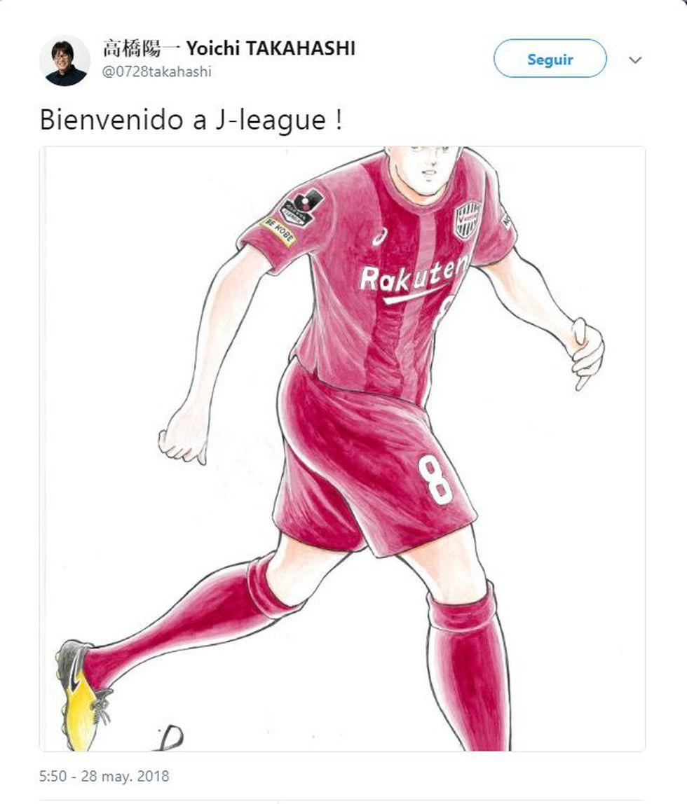 Andrés Iniesta. (Twitter @0728takahashi)