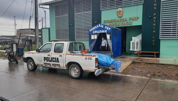 Huánuco: Los cadáveres fueron trasladados a la posta médica de Ramal en Aspuzana (Foto: Difusión)