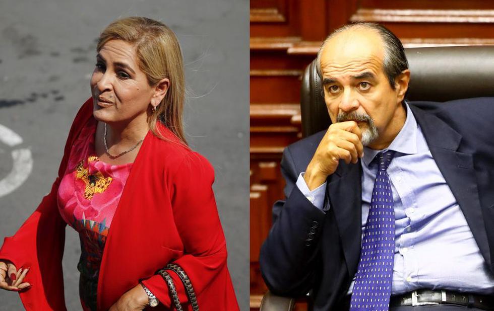 Maritza García y Mauricio Mulder tuvieron un intercambio de palabras durante el debate del desafuero. (USI)