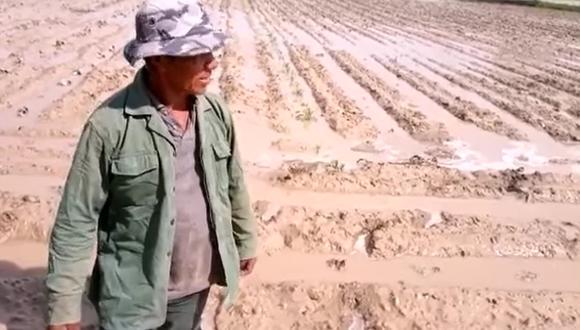 Ica: según los agricultores, las autoridades locales y regionales no apoyan en el mantenimiento del río en el distrito de Ocucaje. (Foto: Captura de video)