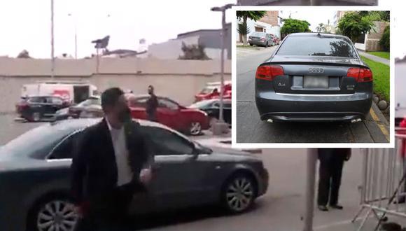 de lujo en lujo. Vladimir Cerrón llegó en un Audi, que registra una deuda por infracción de tránsito, a la entrega de credenciales al presidente Pedro Castillo. Eso sucedió el pasado 27 de julio en Lima. (Video captura Canal N/ SAT)