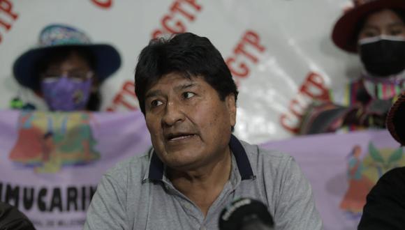 El expresidente de Bolivia Evo Morales comenzó a tener más presencia en el Perú gracias a Perú Libre (Foto: Anthony Niño de Guzmán / @photo.gec)