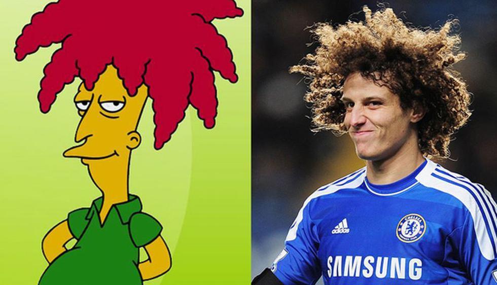 David Luiz (Brasil) es muy similar a Bob Patiño de Los Simpsons. (Internet)