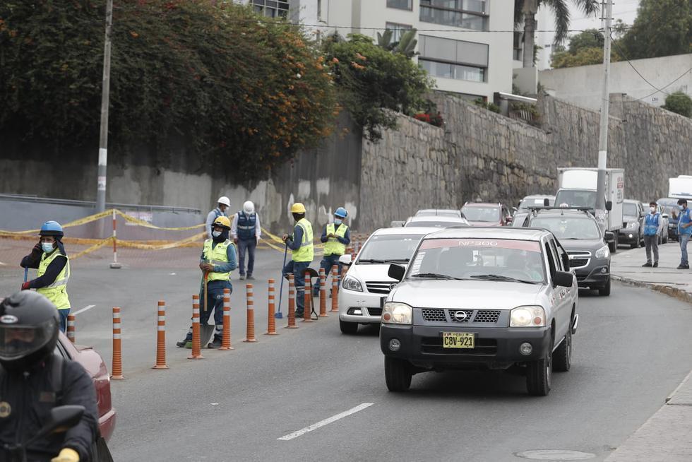 Diversos usuarios de las redes sociales reportaron, la tarde de este martes, una gran congestión vehicular en un tramo de la Costa Verde, especialmente en los sectores de Chorrillos y Barranco. (César Campos/GEC)