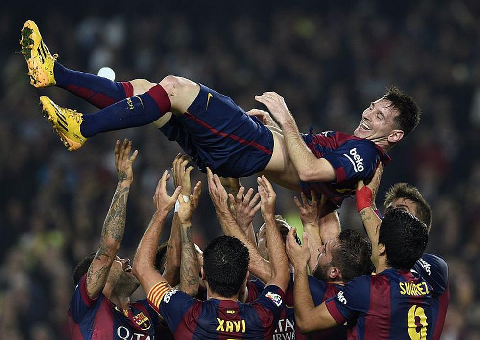 Lionel Messi superó a Telmo Zarra como máximo goleador de la Liga española. (AFP)