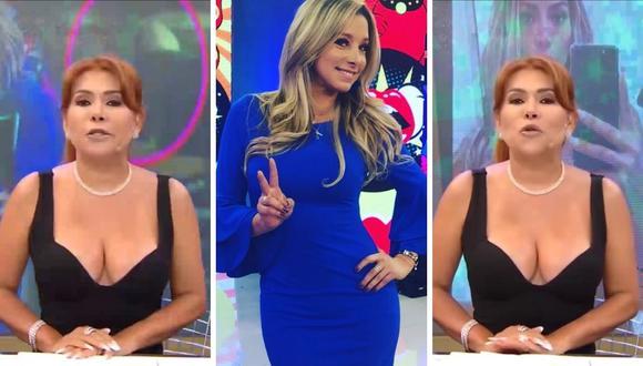 """Magaly Medina defendió a sus periodistas de espectáculos del supuesto """"reglaje"""" que señaló Sofía Franco. (Foto: Captura ATV / Instagram @sofiafrancoayllon)."""