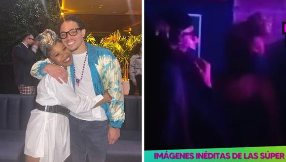 Anthony Ramos y Dominique Fishback fueron vistos al interior de un local nocturno en Cusco. (Composición: Instagram / captura Willax TV)