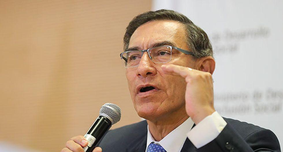 Martín Vizcarra renovó el compromiso del Ejecutivo para trabajar con los gobiernos regionales. (Foto: Presidencia Perú)