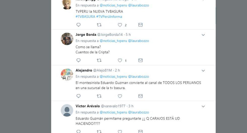 TV Perú recibió un ola de críticas por entrevista a Laura Bozzo. (Twitter: @noticias_tvperu)